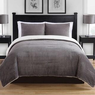 Ribbed Plush Cold Weather Comforter Mini Set