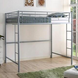 Link to Taylor & Olive Abner Silver Metal Full Loft Bed Similar Items in Kids' & Toddler Beds