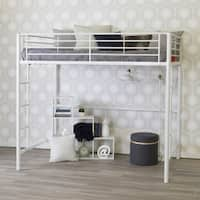 White Metal Full Loft Bed