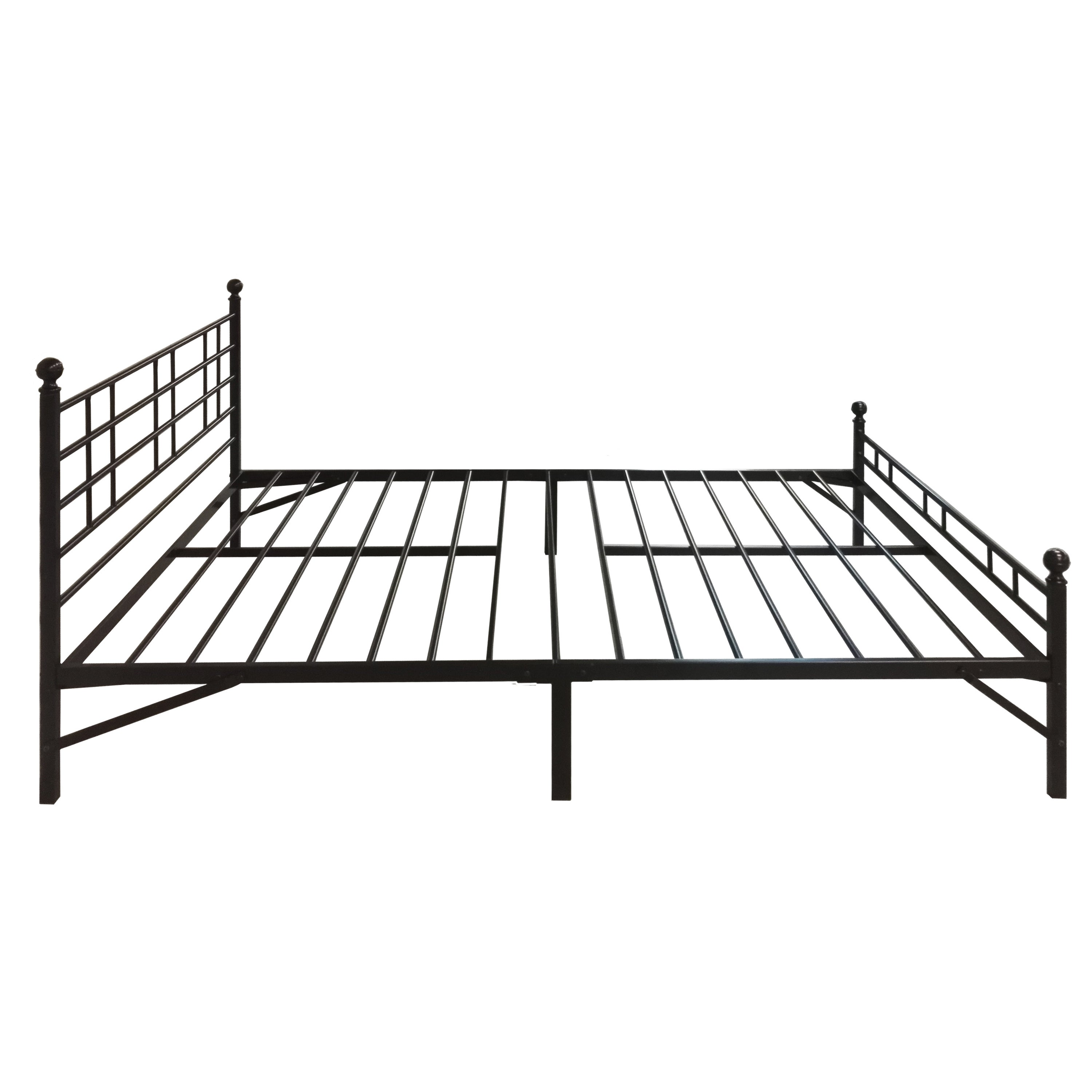 Crown Comfort Black Steel Twin XL Easy Setup Platform Bed...
