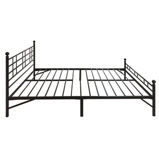 Twin XL Bed Frame Easy Set-up Black Steel Platform- Crown Comfort