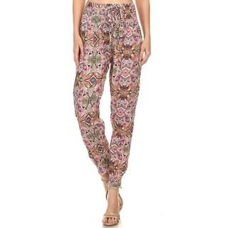 Women's Multicolor Rayon Peasant Pattern Pants
