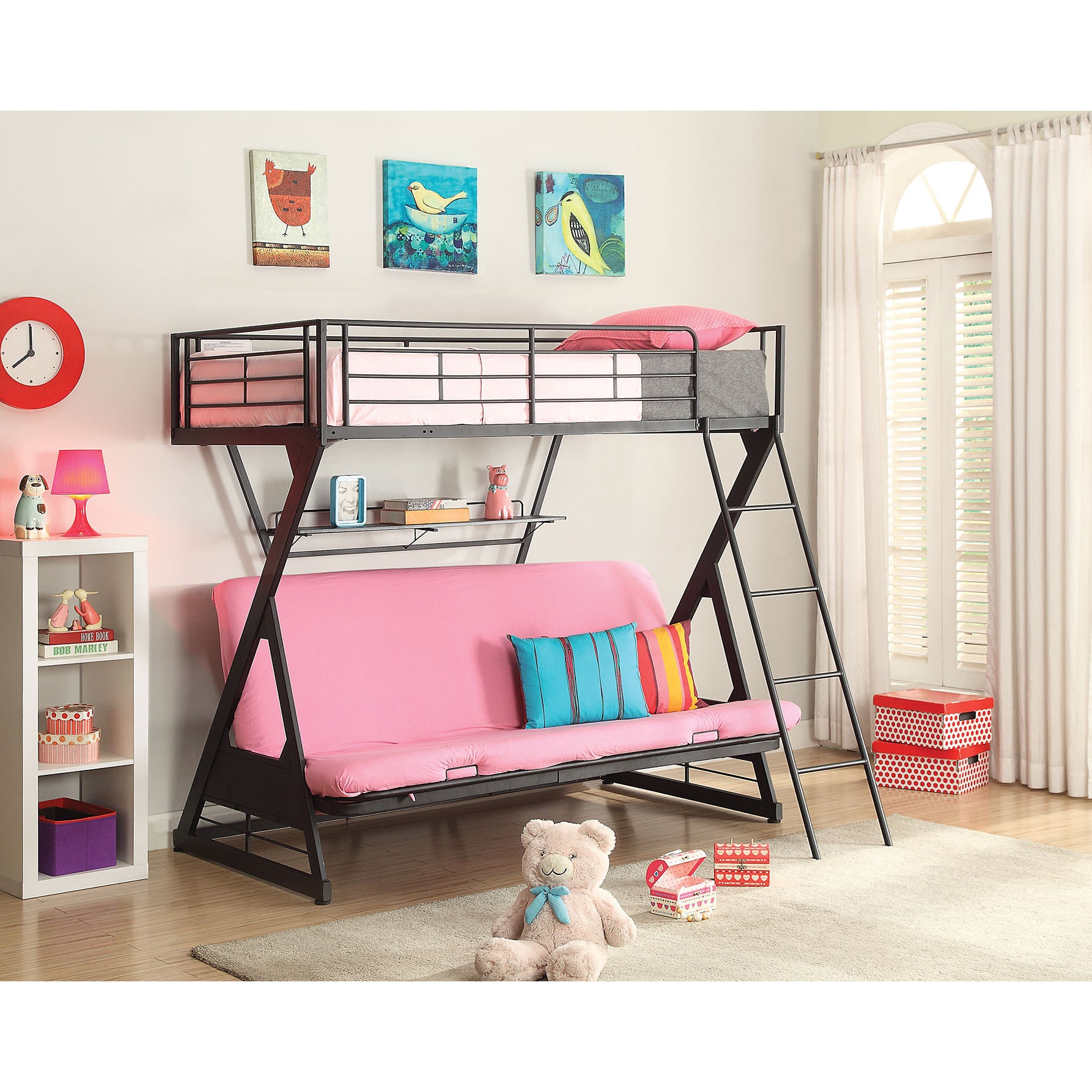 ACME Zazie Twin over Full/Futon Bunk Bed with Optional Bo...