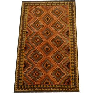 Herat Oriental Afghan Hand-woven Vegetable Dye Wool Kilim (5'2 x 8'1)