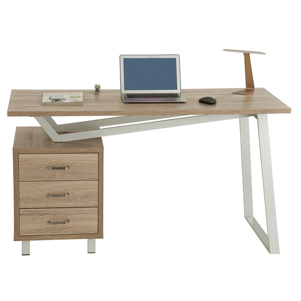 Modern Designs Sand Interchangeable Computer Desk with Storage - Free