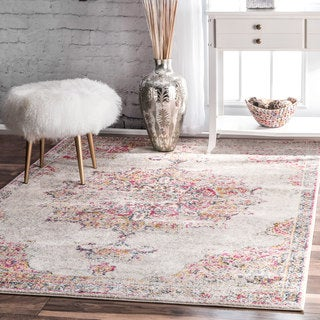 Link to nuLOOM Vintage Persian Medallion Area Rug Similar Items in Rugs