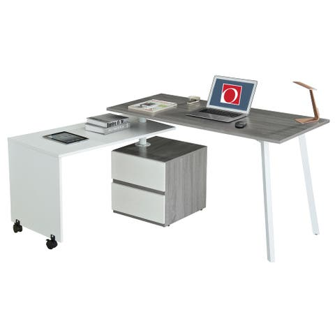 Modern Designs Rotating Multi-positional Computer Desk With Storage