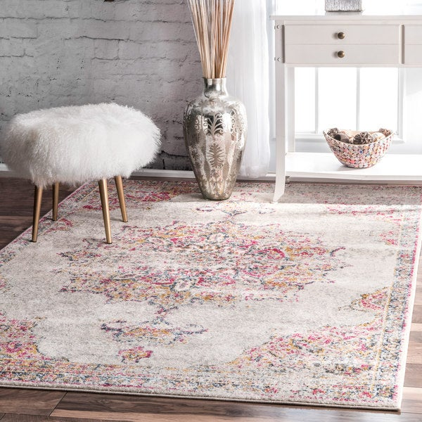 Shop NuLOOM Vintage Persian Medallion Pink Rug