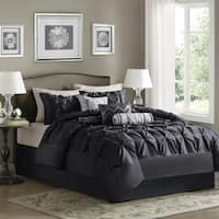 Silver Orchid Niven Black 7 Piece Comforter Set