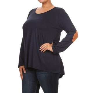 Women's Plus Size Women's Top With Elbow Patches