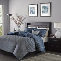 Madison Park Morris Navy 6 Piece Duvet Cover Set