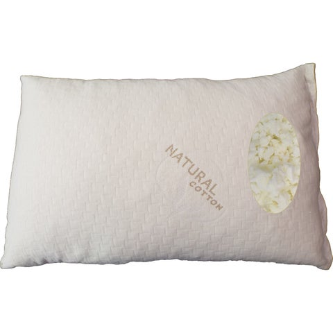 Somette Shredded Queen-size Latex Pillow with Natural Cotton Cover (Set of 1 or 2)