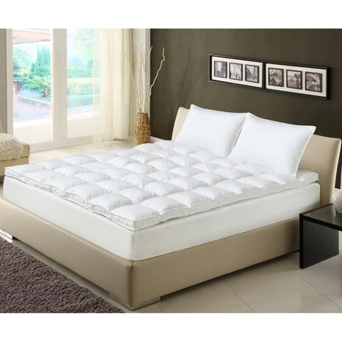 Charisma 400 Thread Count Swiss Dot Cotton Fiber Bed