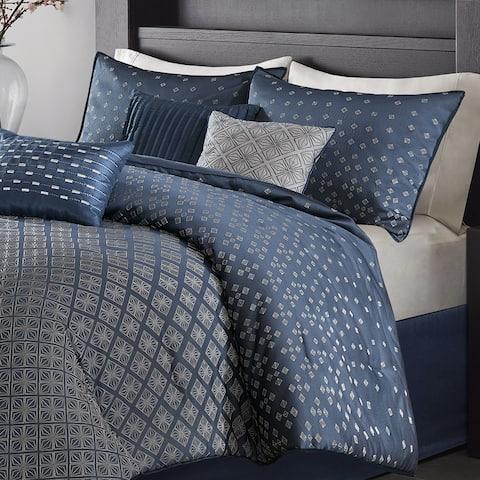 Madison Park Morris Navy 7 Piece Comforter Set