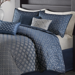 Madison Park Morris Navy 7 Piece Comforter Set