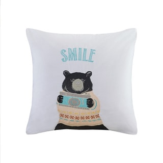 HipStyle Photographer Ben Aqua Cotton Square Pillow