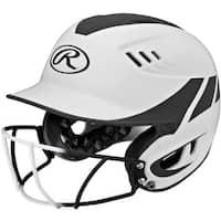 Rawlings Velo Senior Two-tone Home Softball Helmet With Mask