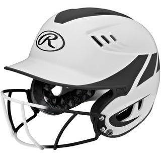 Rawlings Velo Junior 2-tone Home Softball Helmet With Mask