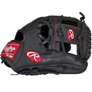 Rawlings Gamer Series Youth Pro Taper Black Leather Baseball Glove