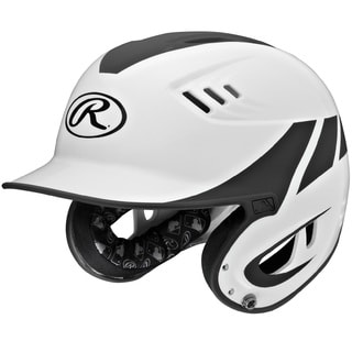 Rawlings Velo Series Senior White Plastic 2-Tone Home Batting Helmet