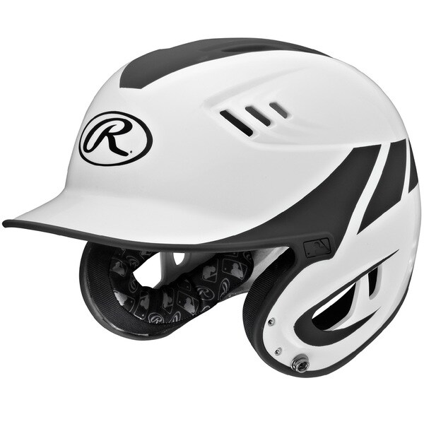Rawlings Velo Series Senior White Plastic 2-Tone Home Batting Helmet