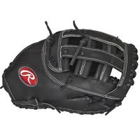 Rawlings Heart of the Hide Black Leather 12.5-inch 1st Base Softball Mitt