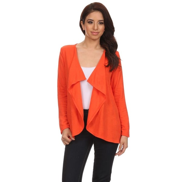 Women's Solid Draped Cardigan