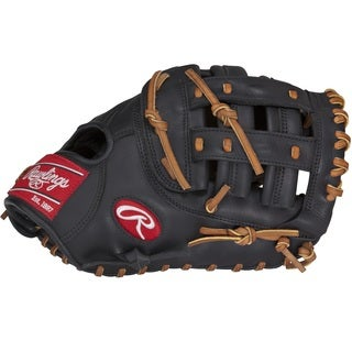Rawlings Gamer Series Black Leather 12.5-inch Baseman Mitt