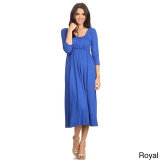 Women's Solid-color Rayon/Spandex Maxi Dress (More options available)