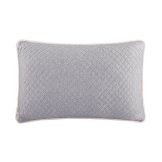 INK+IVY Shelby Grey Cotton Quilted Oblong Pillow