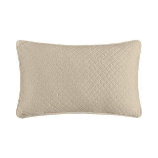INK+IVY Shelby Natural Cotton Quilted Oblong Pillow