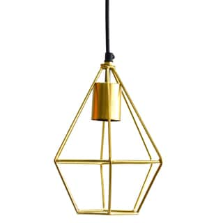 Florence Showered Gold 7-inch x 9-inch Light Fixture