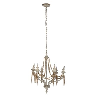 Tamsin Chain Antique White Metal 24-inch x 23-inch x 29-inch 6-light Chandelier