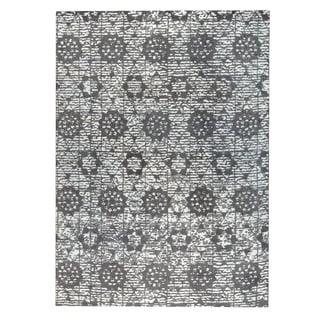M.A.Trading Hand-woven Baltimore Charcoal/Grey (5'x8')