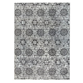 M.A.Trading  Hand-woven Baltimore Charcoal/Grey (9'x12')