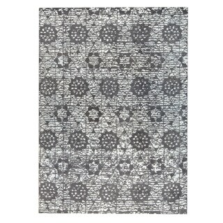 M.A.Trading Hand-woven Baltimore Charcoal/Grey (9'x12') - 9' x 12'