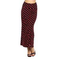 Women's Polka Dot Polyester Maxi Skirt