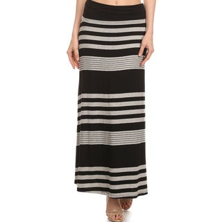 Women's Striped Maxi Skirt