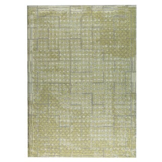 M.A.Trading  Hand-woven Burbank Yellow/Beige (2'x3')