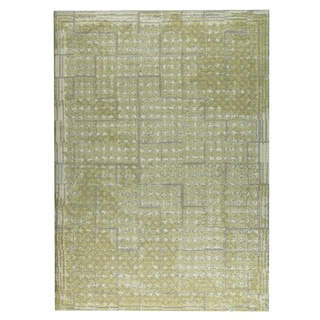 M.A.Trading Hand-woven Burbank Yellow/Beige (5'x8')