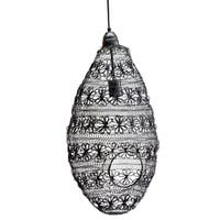 Florence Black Iron Oval Wire-weave Pendant Light
