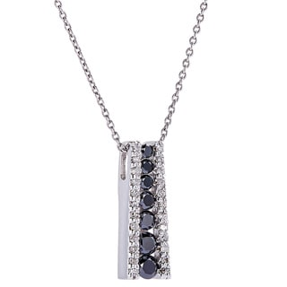 EFFY 14K White Gold Diamond, Black Diamond, Pendant