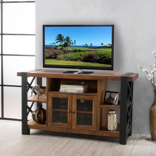 Tori Solid Wood TV Console Stand with Cabinet by Christopher Knight Home & Shop Tori Solid Wood TV Console Stand with Cabinet by Christopher ...