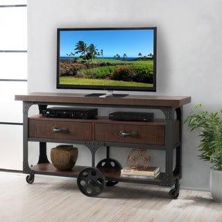 Livana Wood TV Console Stand with Drawers by Christopher Knight Home