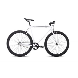 6KU Evian-2 White Fixed-gear Bicycle