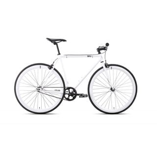 6KU Evian-1 Unisex White Fixed-gear Bicycle