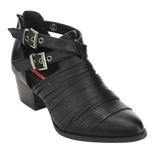 C Label AD70 Women's Buckle-strap Cutting Back-zipper Block-heeled Ankle Booties|https://ak1.ostkcdn.com/images/products/12637863/P19429343.jpg?impolicy=medium