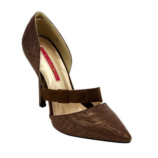 D'orsay Women's Brown Faux-leather Stilettos