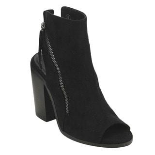 C LABEL AD63 Women's Slingback Side Zipper Chunky Heel Ankle Booties