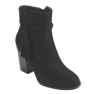 Refresh AD76 Women's Faux Suede Tassel Block-heel Ankle Booties